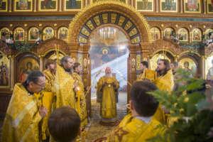 Митрополит Иосиф впервые совершил Божественную Литургию в Свято-Троицком Селенгинском мужском монастыре