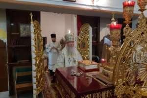 В третий день праздника Рождества Христова, митрополит Иосиф совершил Божественную Литургию в Вознесенском храме