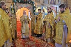 Воскресное богослужение в храме в честь вмч. Георгия Победоносца п. Сосновый бор