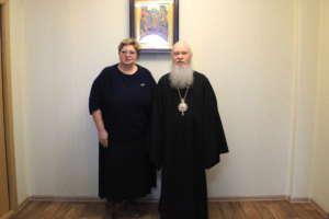 Встреча митрополита Иосифа с министром социальной защиты населения по Республике Бурятия