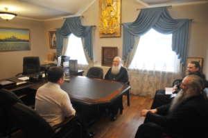 Встреча митрополита Иосифа с генеральным директором международного аэропорта «Байкал»