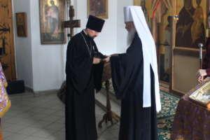 Митрополит Иосиф вручил духовенству Церковную награду за борьбу с коронавирусом
