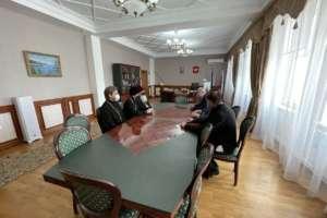 Встреча митрополита Иосифа с ректором Бурятского государственного университета