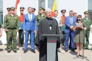 Клирик епархии принял участие в акции «Мы – армия страны! Мы – армия народа!»