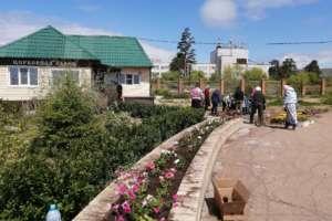 Продолжается озеленение территории Ильинского храма г. Улан-Удэ