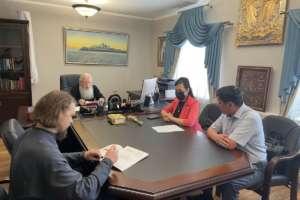 Встреча митрополита Иосифа с Главой Тункинского района