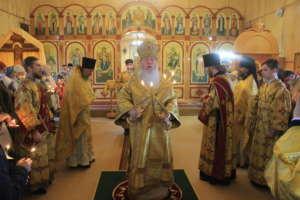 Воскресная Божественная Литургия в храме в честь святого пророка Илии поселка Восточный