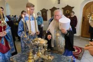 Престольный праздник в Покровском приделе Троицкого храма